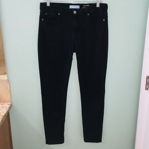 7 For All Mankind Skinny Black Denim Jeans